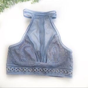 Victoria's Secret   new grommet bra blue bralette